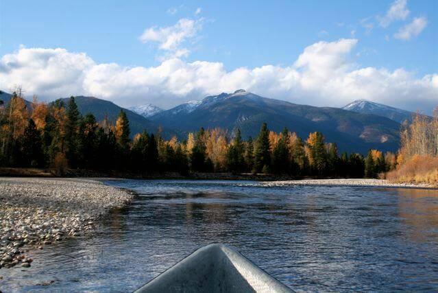 Drift boat Bitterroot River